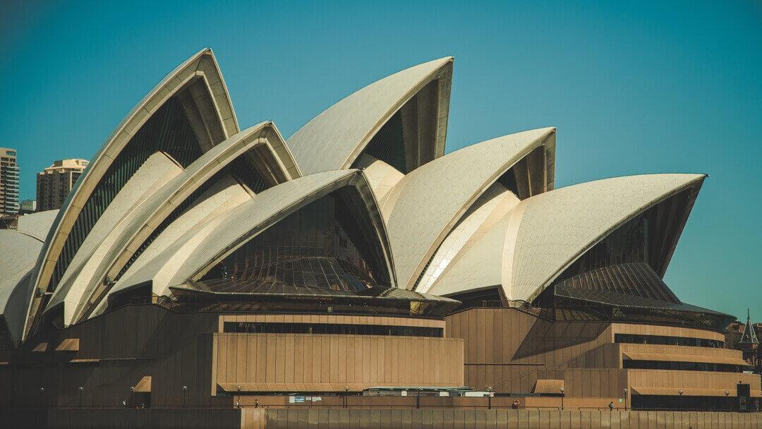Ópera de Sídney, ejemplo de arquitectura moderna.