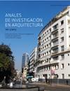 Portada de los Anales de Investigación en Arquitectura 2013.